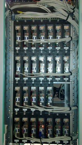 Cabinet 19 pouce équipé du serveur lame mini-itx